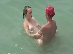 Couple fucking in the water