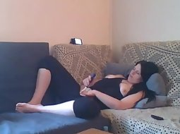 Horny woman starting to relax