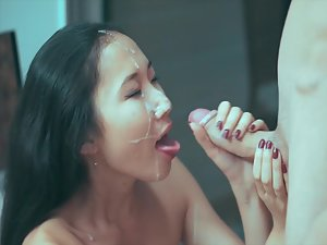 Romantic dinner and sex with chinese girl