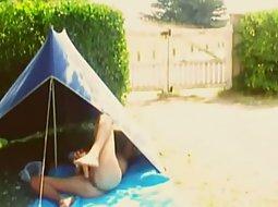 Masturbation in a tent