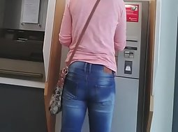 Following an ass in tight jeans