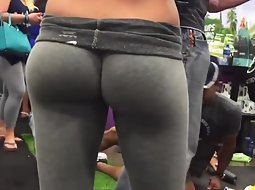 Incredibly tight ass spied up close