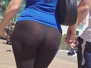 Blonde with phat ass in tights
