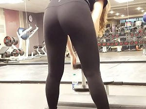 Spying on ass workout
