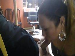 Blowjob hair salon