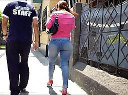 Very tight jeans on the street