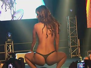 Striptease on an erotic fair