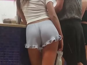 Hard young ass in loose shorts