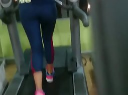 Fit ass on the treadmill