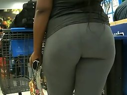 Big butt in the store
