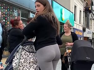 Thong of thick young milf on the street