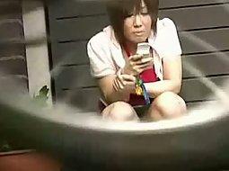 Japanese girl with no panties