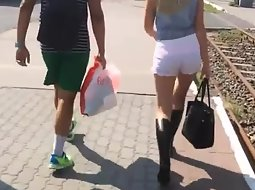 Following a hot young couple