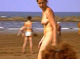 woman gets fully naked