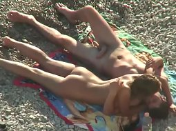 Kissing leads to beach sex