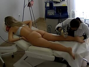 Spying on fuckable blonde during hair removal