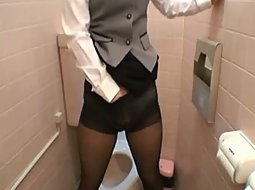 Horny asian business lady