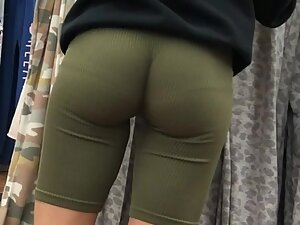 Flawless roundness of tight ass cheeks