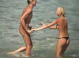 She has fun with her boyfriend