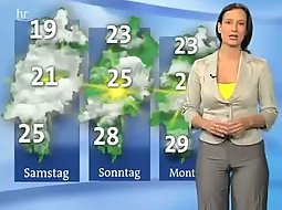 camel toe on a weather girl