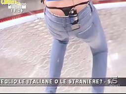 A thong that got seen by whole Italy