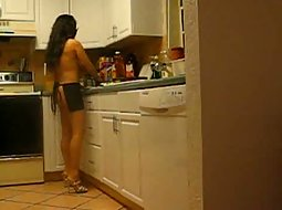 My wife cooks naked