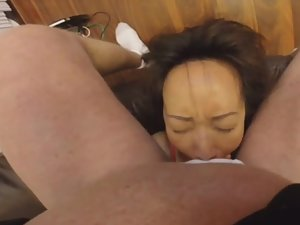 Putting slut's mouth and throat to the test