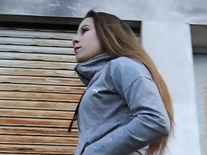 Teen with an extra fit bubble butt